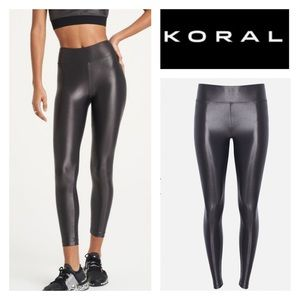 NWT Koral LUSTROUS HIGH RISE LEGGING In lead SzXS